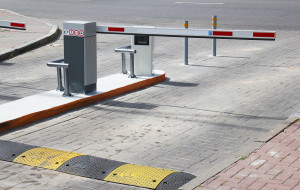 Barrier on the car parking
